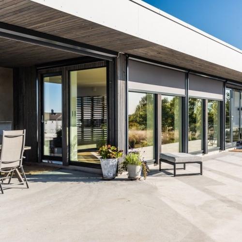 moderne enebolig med utsikt kvartal 19 Arkitekter Vestfold Lønnegloveveien